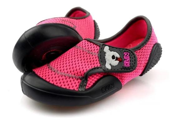 Tênis Bebe Menino New Confort Klin Pink / Grafite