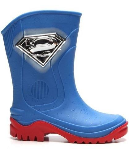 Galocha Bota Infantil Liga Justiça Superman Grendene 22229