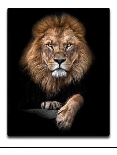 Imagem 1 de 1 de Quadro Decorativo Leão
