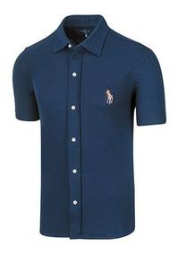 Camisa Casual Hombre Polo Hpc 3014 Manga Corta Marino T3