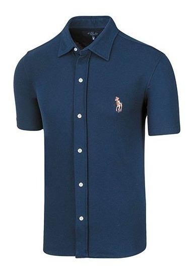 Camisa Casual Hombre Polo Hpc 3014 Manga Corta Marino T4*