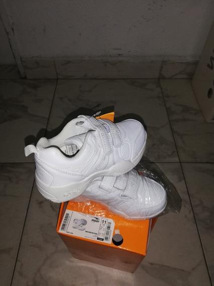 Zapatos Deportivos Colegiales Blancos Rs21 Talla 28 (20v)