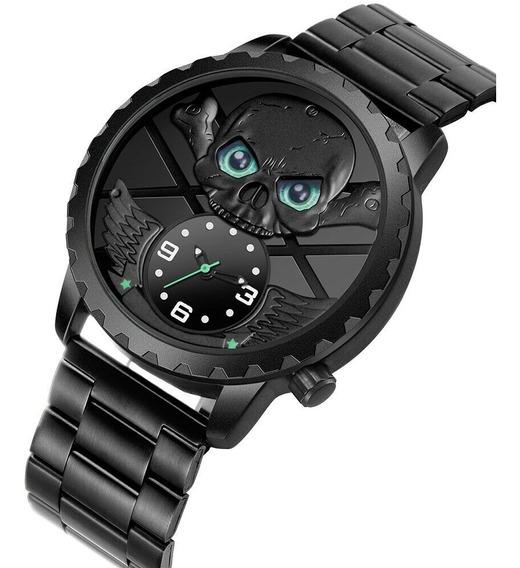 Relógio Skone Pirata + Brinde + Postagem Imediata.