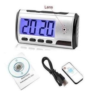 Practico Reloj Despertador Cámara Espía Oculta Y Sensor