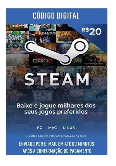 Cartão Presente Steam R$ 100,00