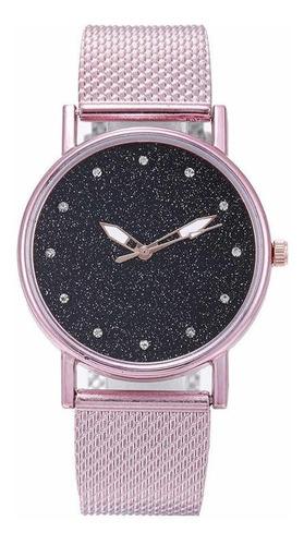 Relógio De Pulso Feminino Céu Estrelado Pulseira De Borracha
