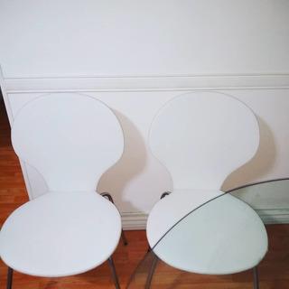 Sillas Estilo Jacobesn Eco Cuero Color Blanco X 4 Unidades