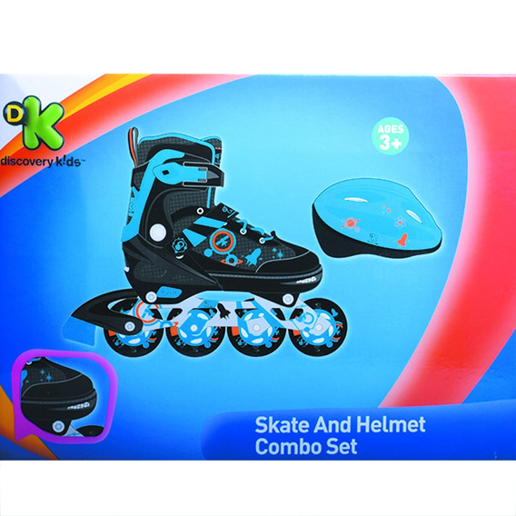 Rollers Con Casco Ajustable Discovery Kids Talle 38-41 Y3324