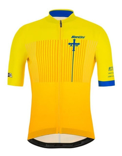 Remera Jersey Santini Ciclismo Vuelta España Amarilla