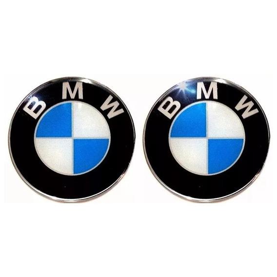 Par Adesivo Emblema Bmw Capacete Bau Universal 48mm Resinado