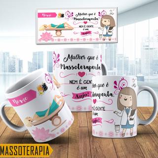 Caneca Personalizada Profissao Massoterapeuta Com Nome