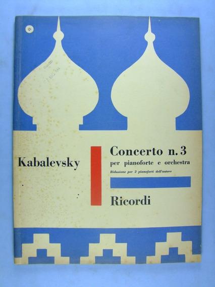 Partitura 2 Pianos: Kabalevsky: Concerto Nº 3, Op. 50