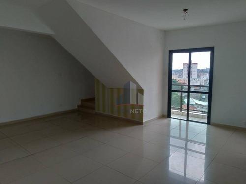 Cobertura Com 3 Dormitórios À Venda, 170 M² Por R$ 850.000,00 - Vila Guarani - Mauá/sp - Co0037