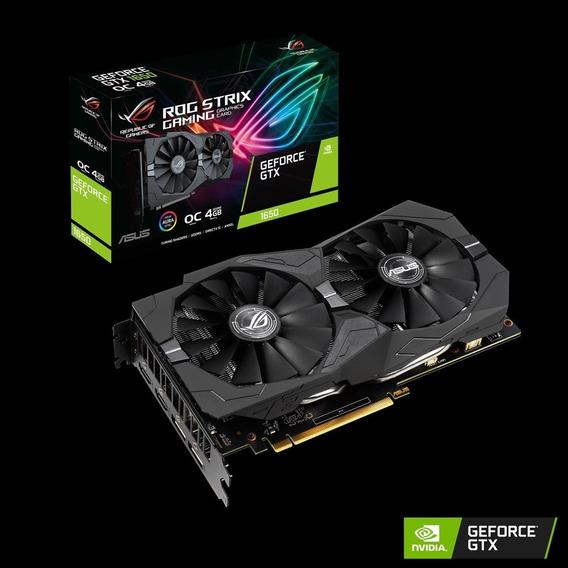 Placa De Vídeo Geforce Gtx 1650 4 Gb Asus Rog Strix Oc Aura