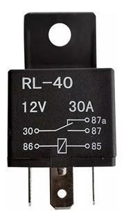 Relay Automotriz 40 Amperes Actuadores Alarmas Claxon Bloque