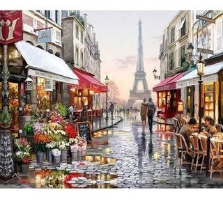 Lienzo Para Pintar Por Números Paris