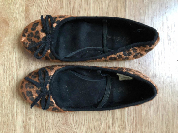 Zapatos Chatitas Balerinas Girls Animal Print T 34