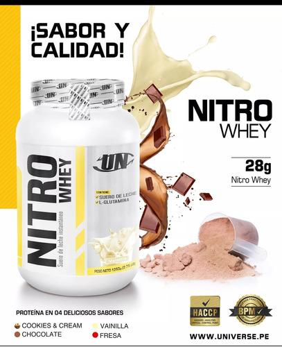 Nitro Whey 1.250 Kg Proteina Un Delivery Gratis!!!
