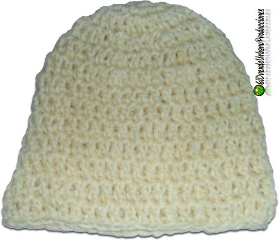 Gorros Infantiles Tejidos Crochet Unisex Mod. Cream
