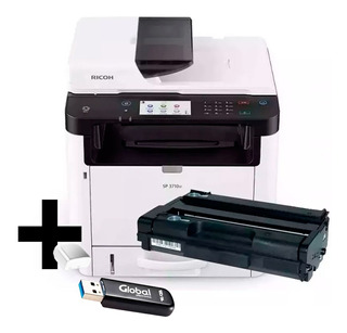 Impresora Multifuncion Ricoh Sp3710 Toner Original Pendrive
