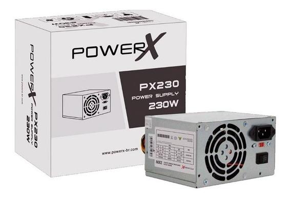 Fonte Powerx 230w Real Px230 + Cabo De Força