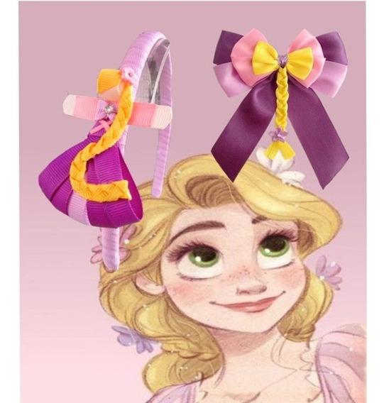 Moño Y Diadema De Rapunzel