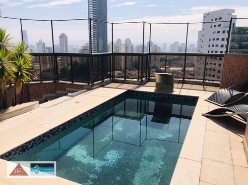 Imagem 1 de 30 de Cobertura Com 3 Dormitórios Para Alugar, 370 M² Por R$ 20.000,00/mês - Jardim Anália Franco - São Paulo/sp - Co0340