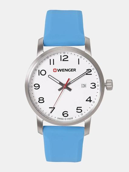 Relógio Suíço Wenger Avenue Pulseira De Silicone 01.1641.109