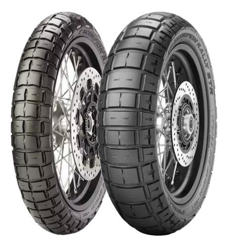 Kit 2 Pneu Pirelli 120/70-19 + 170/60-17 Scorpion Rally Str