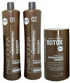 Plastica Dos Fios Selagem Térmica Marroquina + Botox