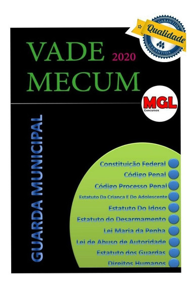 Vade Mecum Apostila Espiral Guarda Municipal 2020