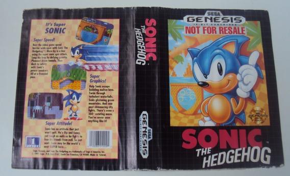 Encarte - Sonic Not For Resale - Mega Drive