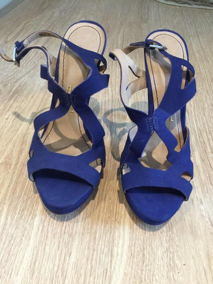 Sandália Santa Lolla Azul 36. Nunca Usada