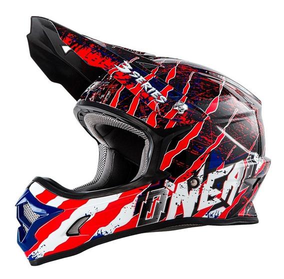 Casco Motocross Oneal 3 Series Liquidacion Por Stock Limit