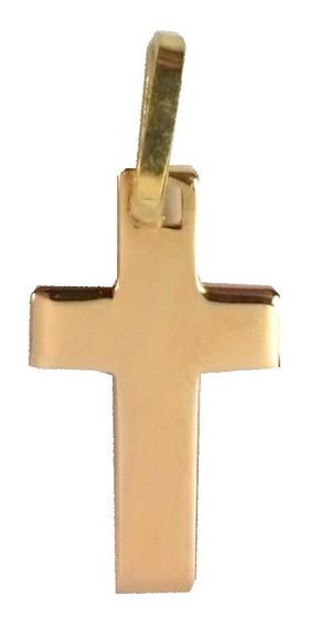 Cruz Oro 18k Bombe Lisa Maciza Garantia Abr01 Jr Joyas
