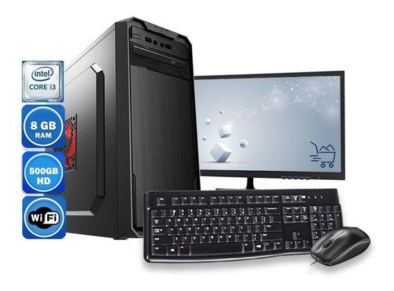 Computador Pc Completo Intel Core I3 8gb Hd 500gb Wifi
