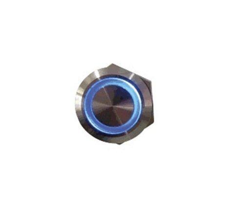 Botão Antivandalismo Iluminado Azul 22mm-24vca/cc