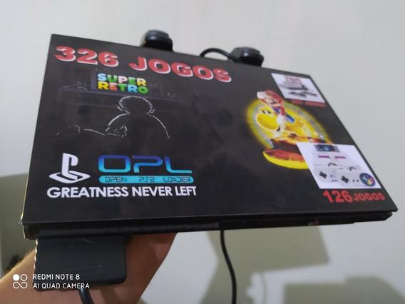 Playstation 2 Slim Opl + 326 Jogos Retro Na Memoria