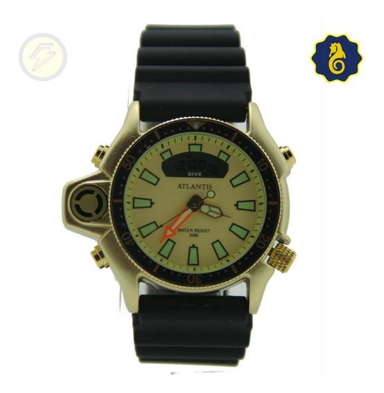 Relógio Masculino Sport Social Dourado Quartz Inox Analogico