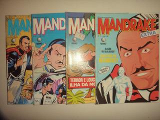 Lote Mandrake Extra 3 4 5 6 Editora Rge 1986 Otimas