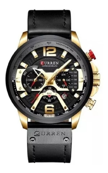 Relógio Curren Masculino 8329 Original Cronógrafo Funcional