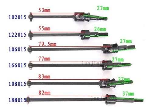 Hsp 122015 Juntas Universal Drive Shafts 1/10 Dogbone Em Aço