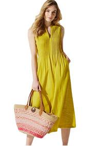 eecd944585 Vestidos De Fiesta - Vestidos de Mujer Medio Amarillo en Mercado ...