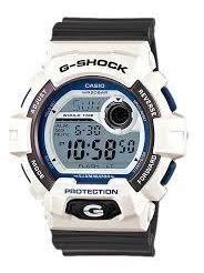 Reloj Casio G-shock Modelo G-8900 Blanco Con Gris