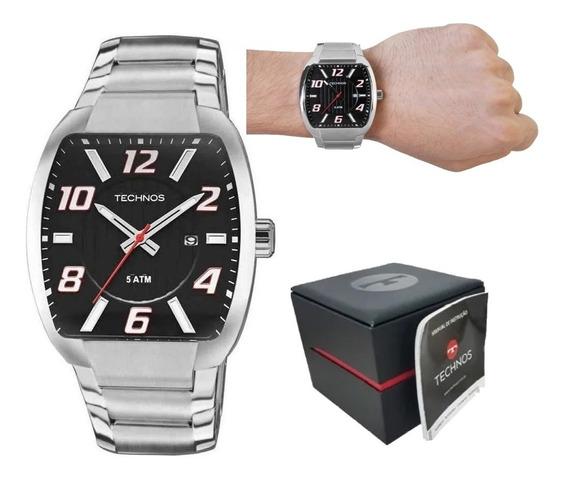 Relógio Technos Masculino Racer Prata 2115kll1p + Garantia