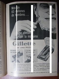 Guillette Maquina Afeitar Hombre Publicidad Vintage 1957