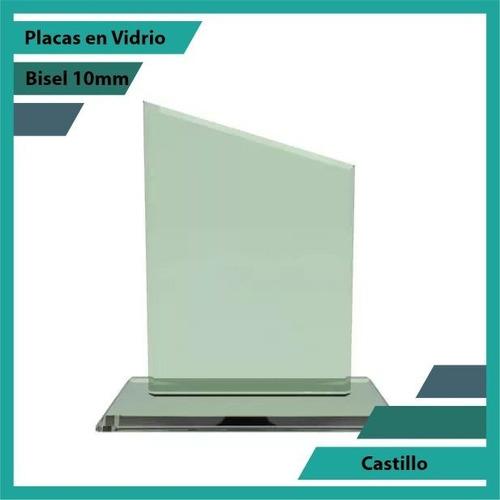 Placas En Vidrio Forma Castillo