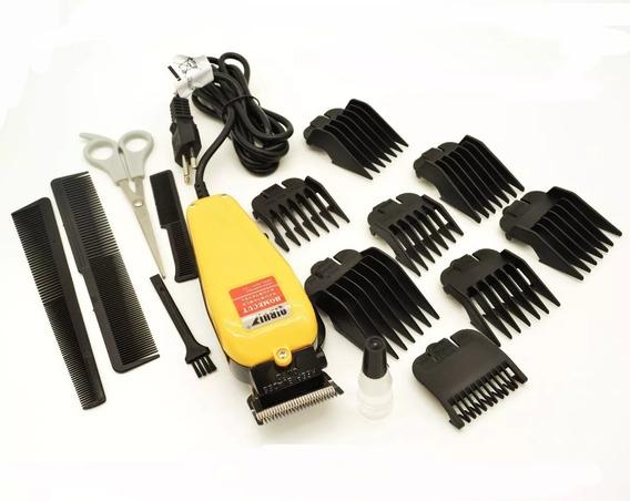 Maquina De Cabelo Barba Aparador Profissional Kit Completo