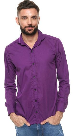 Camisas Entalladas Hombre Slim Fit Varios Colores!!