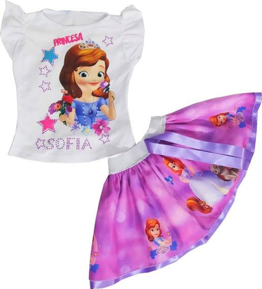 Vestido Tutu Para Niña Princesas, Sofia, Sirenita Dos Piezas